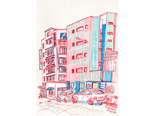A sketch of the architecture in Hong Kong by Alison Hui