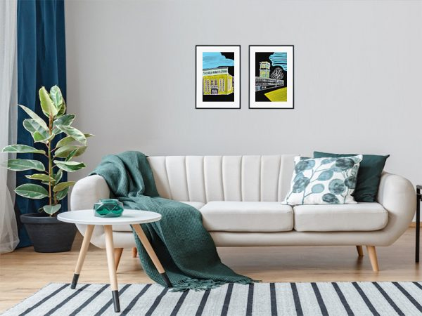 An inspiration of home decoration with a picture hang in a living room