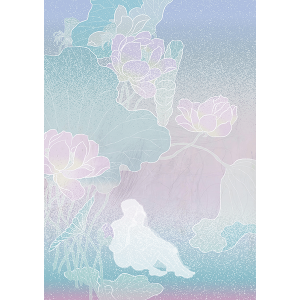 A digital painting named Song of Songs embrace by Yung Yee Kwan